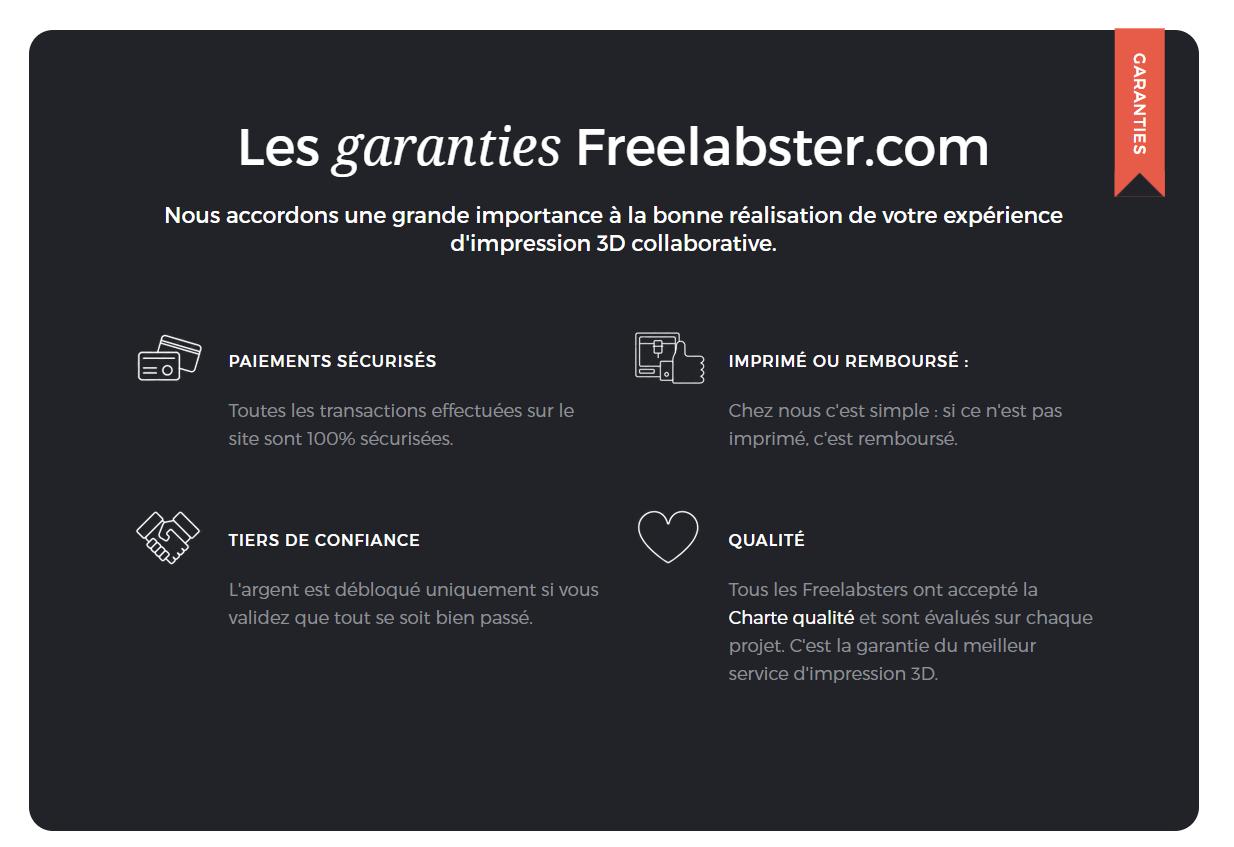 Les garanties Freelabster